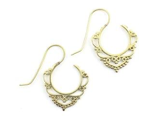 Thatta Earrings, Drop Mandala Earrings, Tribal Brass Earrings, Festival Earrings, Gypsy Earrings, Ethnic Earrings, Boho
