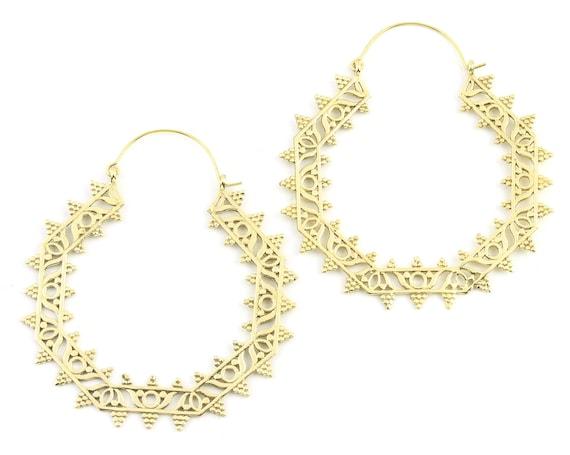 Extra Large Mandala Earrings, Orai Earrings, Large Brass Festival Earrings, Statement Piece, Boho, Modern, Festival, Gypsy Earrings, Ethnic