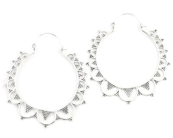 Extra Large Mandala Earrings, Luru Earrings, Large Festival Earrings, Statement Piece, Boho, Modern, Festival, Gypsy Earrings, Ethnic