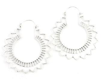 Extra Large Mandala Earrings, Nandi Earrings, Large Brass Festival Earrings, Statement Piece, Boho, Modern, Festival, Gypsy Earrings, Ethnic