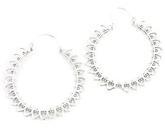 Large Mandala Earrings, Mau Earrings, Large Brass Festival Earrings, Statement Piece, Boho, Modern, Festival, Gypsy Earrings, Ethnic