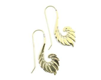 Toba Earrings, Drop wing Earrings, Tribal Brass Earrings, Festival Earrings, Gypsy Earrings, Ethnic Earrings, Boho