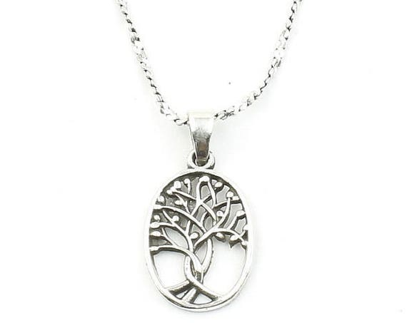 Sterling Silver Tree of Life Necklace, Small, Family Tree, Yoga Jewelry, Meditation, Spiritual, Boho, Bohemian, Gypsy, Festival, Hippie
