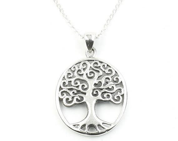 Sterling Silver Tree of Life Necklace, Family Tree, Organic, Yoga Jewelry, Meditation, Spiritual, Boho, Bohemian, Gypsy, Festival, Hippie