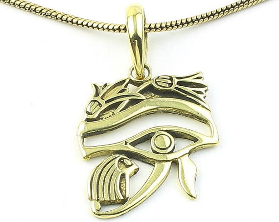 Eye Of Horus Egyptian Necklace, Eye Of Ra Pendant, Eye, Festival Jewelry, Boho, Bohemian, Gypsy, Hippie, Spiritual