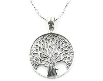 Sterling Silver Tree of Life Necklace, Family Tree, Nature. Yoga Jewelry, Meditation, Spiritual, Boho, Bohemian, Gypsy, Festival, Hippie