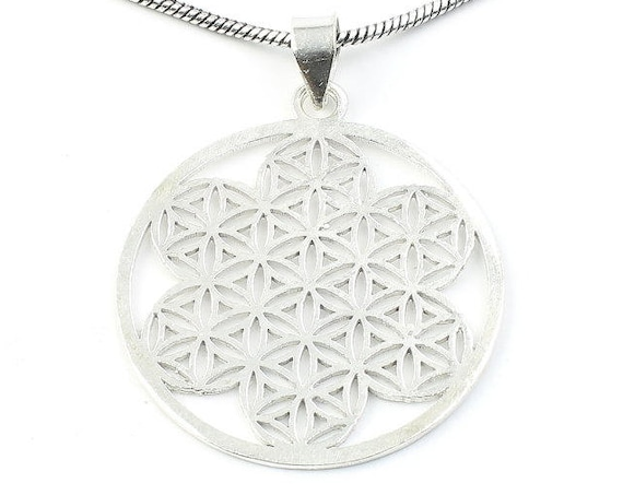 Flower Of Life Necklace, Sacred Geometry Pendant, Geometric, Yoga Jewelry, Festival Jewelry, Boho, Bohemian, Gypsy, Hippie, Spiritual