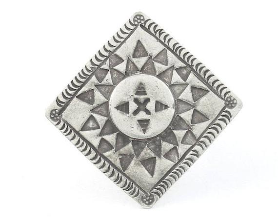 Sterling Silver Cordelia Ring, Large, Southwestern, Shield, Statement Piece, Organic, Boho, Bohemian, Hippie, Gypsy, Festival Jewelry