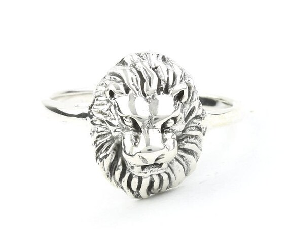 Sterling Silver Lion Ring, Lion Head Ring, Boho, Bohemian, Gypsy, Festival Jewelry