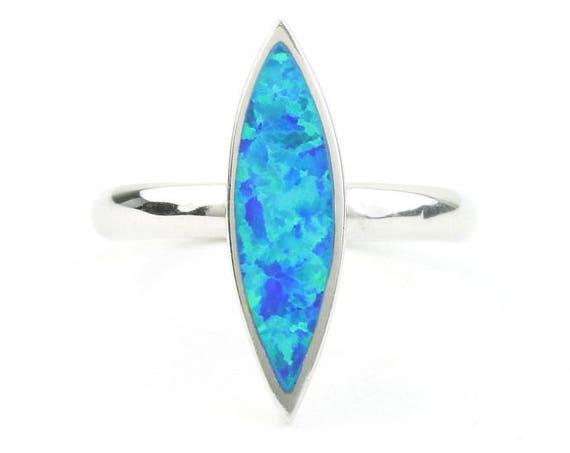 Vena Opal Ring, Sterling Silver Opal Ring, Lab Opal, Boho, Bohemian, Gypsy, Festival Jewelry, Gemstone Rings