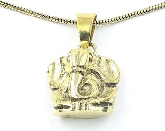Brass Elephant Necklace, Ganesh Pendant, Yoga, Festival Jewelry, Boho, Bohemian, Gypsy, Hippie, Spiritual