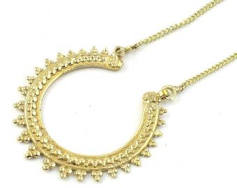 Estrella Necklace, Mandala, Ethnic Penndant, Tribal, Yoga Jewelry, Festival Jewelry, Boho, Bohemian, Gypsy, Hippie, Spiritual