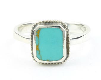 Summer Storm Ring, Sterling Silver Turquoise Ring, Boho, Bohemian, Gypsy, Festival Jewelry, Gemstone, Southwestern