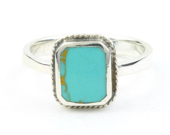 Summer Storm Ring, Sterling Silver Turquoise Ring, Boho, Bohemian, Gypsy, Festival Jewelry, Gemstone, Southwestern