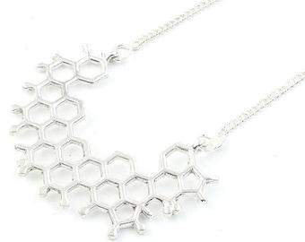 Molecule Necklace, Geometric, Science, Tribal, Yoga Jewelry, Festival Jewelry, Boho, Bohemian, Gypsy, Hippie, Spiritual