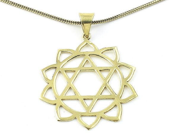 Hexagon Lotus Necklace, Sacred Geometry, Mandala, Star of David, Geometric, Yoga, Festival Jewelry, Boho, Bohemian, Gypsy, Hippie, Spiritual