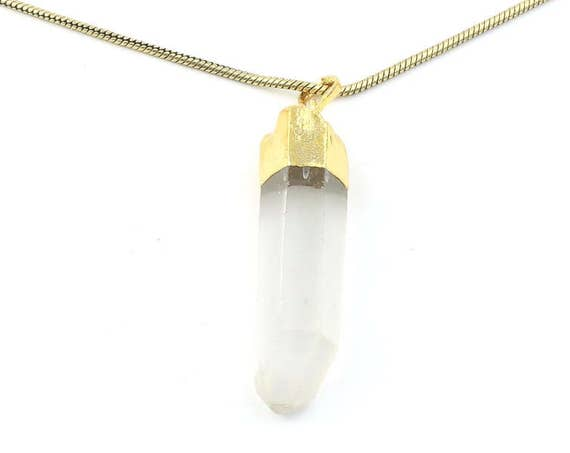 Quartz Crystal Necklace, Raw Stone Necklace, Crystal Point Necklace, Quartz Crystal, Raw Stone Jewelry, Festival Jewelry, Boho, Hippie