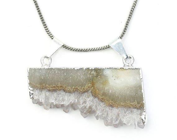 Raw Amethyst Necklace, Crystal Necklace, Gemstone, Festival Jewelry, Boho, Bohemian, Yoga, Gypsy, Hippie, Spiritual