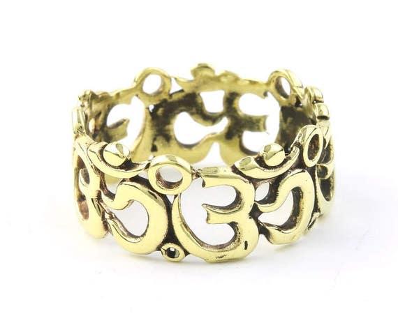 Men's OM Band Ring, Meditation, Yoga Jewelry, Tribal, Ethnic Ring, Gypsy, Hippie Jewelry, Festival Jewelry, Bohemian, Boho