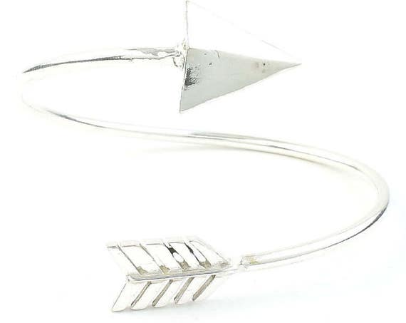 Arrow Bracelet, Bangle, Lower Arm Cuff, Geometric, Boho, Bohemian, Gypsy, Festival Jewelry, Minimal, Western