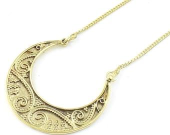 Luna Necklace, Ethnic Penndant, Tribal, Yoga Jewelry, Festival Jewelry, Boho, Bohemian, Gypsy, Hippie, Spiritual