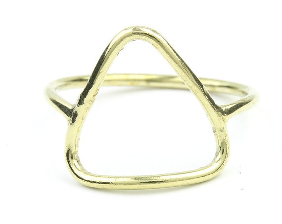Brass Triangle Ring, Geometric, Minimal Ring, Modern Ring, Festival Jewelry, Gypsy Jewelry, Boho