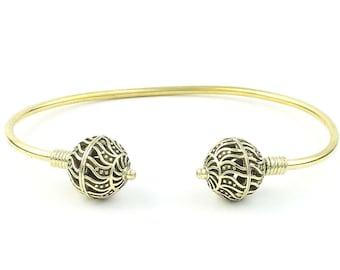 Nova Brass Bracelet, Ethnic Bangle, Lower Arm Cuff, Tribal, Boho, Bohemian, Gypsy, Festival Jewelry, Stacking Bracelets