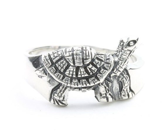 Tortoise Ring, Sterling Silver Turtle Ring, 925, Boho, Gypsy, Festival Jewelry, Hippie Jewelry, Nature, Animal Jewelry
