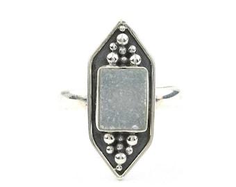 Ice Princess Ring, Sterling Silver Quartz Drusy Ring, Druzy, Gemstone Jewelry, Boho, Gypsy, Festival, Hippie, Spiritual