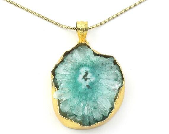 Dyed Quartz Druzy Crystal Necklace, Raw Stone Necklace, Crystal Necklace, Raw Stone Jewelry, Festival Jewelry, Boho, Hippie