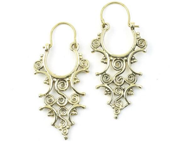 Whaling Spiral Earrings, Modern Earrings, Festival Jewelry, Gypsy Earrings, Ethnic, Yoga