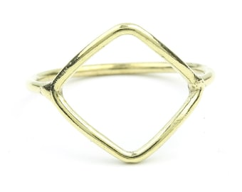 Boho Festival Jewelry Modern Ring Geometric Gypsy Jewelry Minimal Ring Brass Triangle Ring