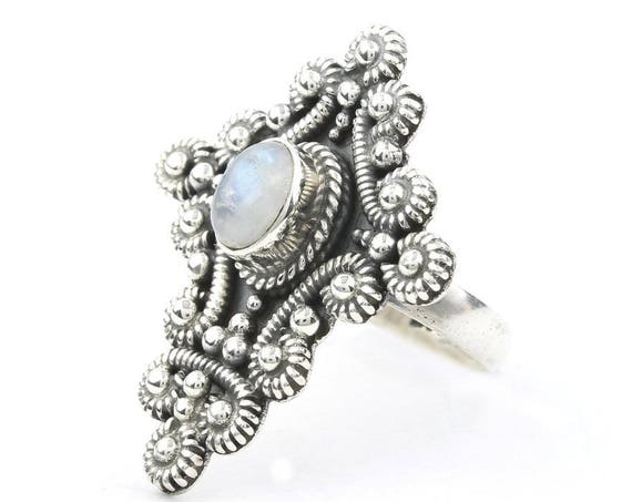 Angels Crossing Ring, Sterling Silver Moonstone Ring, Cross Ring, Gemstone, Festival Jewelry, Boho, Gypsy, Spiritual