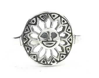 Sterling Silver Cosmic Sun Ring, Sun Ring, Boho Ring, Space jewelry, spiritual, wiccan