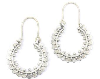 Farah Earrings, Middle Eastern, Vintage, Afghani, Boho, Bohemian, Mandala, Tribal Earrings, Festival Jewelry, Gypsy Earrings, Ethnic, Hippie