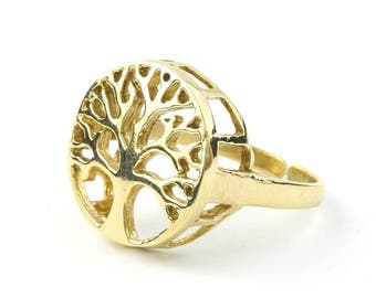 Tree Of Life Brass Ring, Family Tree, Yoga Jewelry, Tribal, Ethnic Ring, Gypsy, Hippie Jewelry, Festival Jewelry, Bohemian, Boho