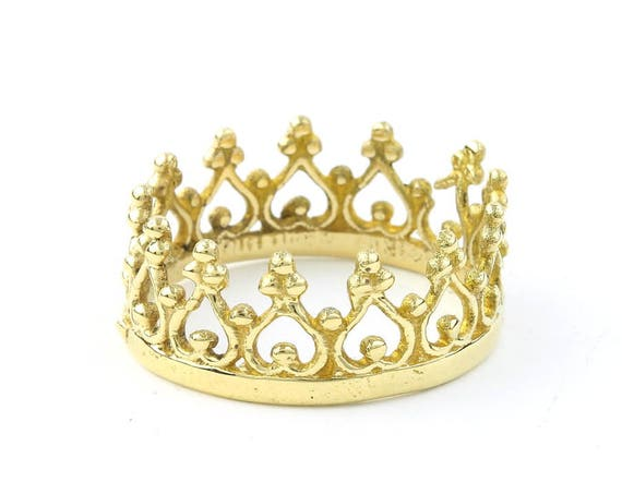 Brass Crown Ring, Princess, Queen, Yoga Jewelry, Tribal, Ethnic Ring, Gypsy, Hippie Jewelry, Festival Jewelry, Boho