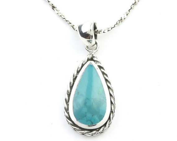 Sterling Silver Turquoise Necklace, Southwestern Jewelry, Turquoise, Spiritual, Boho, Gypsy, Festival, Hippie