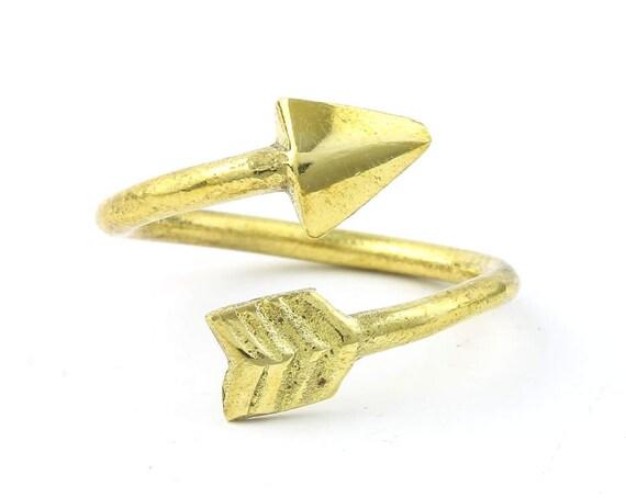 Brass Arrow Ring, Western, Indian, Yoga Jewelry, Tribal, Ethnic Ring, Gypsy, Hippie Jewelry, Festival Jewelry, Boho, Minimal