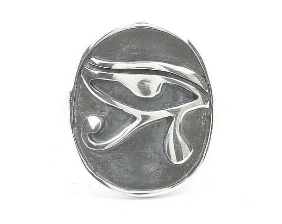 Sterling Silver Eye Of Ra Ring, Eye Of Horus, Egyptian Jewelry, Spiritual, Boho, Gypsy, Festival, Hippie