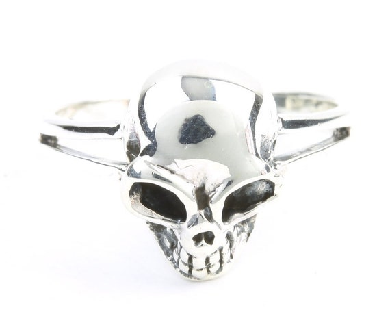 Sterling Silver Skull Ring, Sterling Silver Skeleton Ring, Bones, Biker, Boho, Gypsy, Wiccan, Festival Jewelry