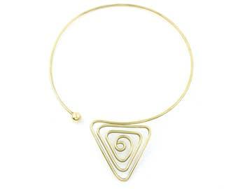 Mountain Spiral Necklace, Metal Choker, Modern Necklace, Festival, Gypsy, Boho, Bohemian, Hippie, Statement Piece