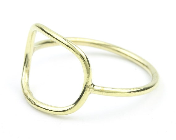 Brass Square Ring, Geometric, Minimal Ring, Modern Ring, Festival Jewelry, Gypsy Jewelry, Boho
