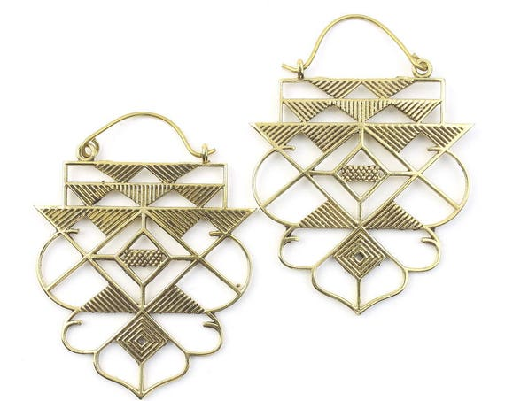 Sacred Geometry Earrings, Geometric Triangle Earrings, Alchemy Earrings, Modern Earrings, Festival, Gypsy Earrings, Ethnic,