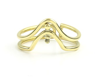 Haryana Ring, Brass V designed Ring, Meditation, Yoga Jewelry, Tribal, Ethnic Ring, Gypsy, Hippie Jewelry, Festival Jewelry, Boho