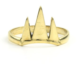 Triple Triangle Ring, Geometric, Minimal Ring, Modern Ring, Festival Jewelry, Gypsy Jewelry, Boho