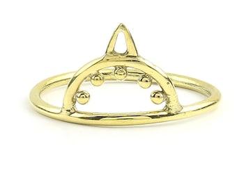 Ambattur Ring, Brass mehndi design, Geometric, Minimal Ring, Modern Ring, Festival Jewelry, Gypsy Jewelry, Boho