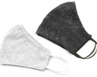 Cotton Face Mask, 2 PACK, USA shipping next day, washable, reusable face mask, Breathable cotton, fabric face mask, comfortable fit, 2 layer