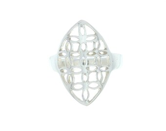 Sterling Silver Ring, Sacred Geometry Ring, Silver Flower Ring