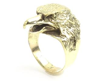 Eagle head Ring, Bird Ring, Animal Ring, Biker Ring, Festival Jewelry, Gypsy Jewelry, Boho
